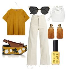 """""""cookie and cream💛"""" by memowitta on Polyvore featuring Rachel Comey, Fendi, Marni, STOULS, Mansur Gavriel and Kester Black"""