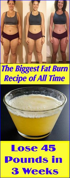 The Biggest Fat Burn Recipe of all time-Lose 45 Pounds in 3 Weeks - WOMEN'S FIT HEALTHY