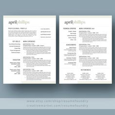Professional Resume Template for Word, Page Resume + Cover Letter + Reference Page Resume Skills, Resume Tips, Cv Tips, Sample Resume, Resume Ideas, Resume Cv, Cover Letter For Resume, Cover Letter Template, Cover Letters