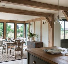 Since 1980 Border Oak have specialised in the design and construction of exceptional bespoke oak framed buildings across the UK and abroad Cottage Extension, House Extension Design, House Design, Style At Home, Border Oak, Oak Framed Buildings, Oak Frame House, Farmhouse Remodel, House Extensions