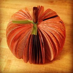 Finished book pumpkin