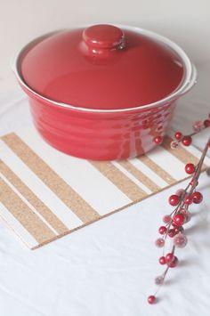 Cork Table Mat Washi Tape DIY