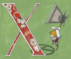 X is for aX 9x7.5 Wonderland Alphabet