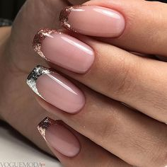 French nails create the visual effect of slender fingers. Now French nails have various color variations. Here we provide a variety of nails that are instantly elegant and make your hands look longer. French Nails, French Manicures, Hair And Nails, My Nails, Wedding Nails Design, Super Nails, Nagel Gel, Halloween Nails, Nail Tips