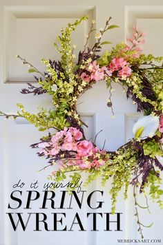 Making A Wreath For Spring