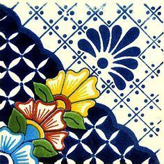 Infuse the spirit of the Southwest into your home with these beautifully handcrafted Talavera tiles! An eye-catching accent in kitchens and baths, decorative ceramic tiles are also perfect for covering the risers on a staircase or the walls of a patio. Accent Wall Designs, Accent Wall Colors, Mexican Home Decor, Mexican Art, Mexican Pattern, Art Nouveau Tiles, Talavera Pottery, Art Populaire, Glazes For Pottery