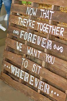 rustic wedding signs via danae jones photography