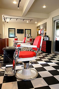 Salon Design Photo Gallery Portfolio Page One | Salon Interiors, Inc (love the chairs)