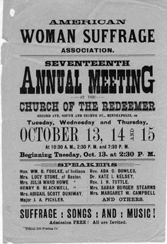 The American Woman Suffrage Association formed by Lucy Stone and Henry Blackwell in 1869.