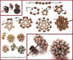 seed bead tutorials for beginners Bead Jewellery, Seed Bead Jewelry, Seed Bead Earrings, Diy Earrings, Hoop Earrings, Beaded Earrings Patterns, Seed Bead Patterns, Beading Patterns, Earring Tutorial