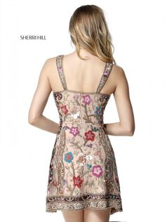Sherri Hill 51489 Has Straps and V-Shape picture 1 Sherri Hill Short Dresses, Designer Formal Dresses, A Line Shorts, Prom Dress Shopping, Beaded Gown, Feminine Dress, Fashion 2018, Women's Fashion, Buy Dress