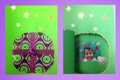 POSTALS DE NADAL - Material: Cartolina, papers de colors, gomets, llaç regal, cola, punxó, fotografies, tisores - Nivell: Infantil P3 2014-15