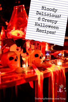 6 scary good Halloween recipes that your guests will love at your Halloween party!   The Party Goddess! #halloween #recipes #halloweenrecipes #eventplanner