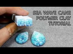 polymer clay beads cane / Sea wave cane p - beading Cane Fimo, Polymer Clay Canes, Polymer Clay Flowers, Fimo Clay, Polymer Clay Projects, Polymer Clay Creations, Polymer Clay Earrings, Clay Crafts, Polymer Clay Tutorials