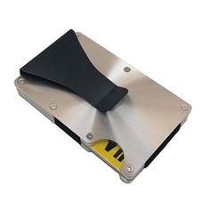 Mini Malette ARGENT Attached Case Porte Cartes Aluminium Visite - Porte carte aluminium