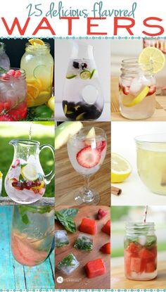 25 Flavored Water Recipes via www.hairsprayandhighheels.com