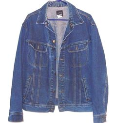 Lee Blue Jean Denim Jacket Coat Men's Vintage Size Large      4415 #Lee #JeanJacket