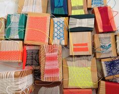 love this collection of woven pieces show on design sponge