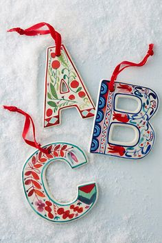 Monogram Ornaments - Seventeen.com