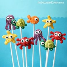 Sea Creature Candy Pops