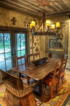 Rustic Furniture  Dining Table Chairs Furniture And Products Delectable Western Style Dining Room Sets Inspiration Design