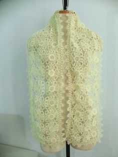 New Without Tag Hand Made Tatting Scarf Sz 8x62 In | eBay