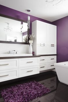 1000 id es sur le th me salle de bain mauve sur pinterest vanit s de salle de bain modernes. Black Bedroom Furniture Sets. Home Design Ideas