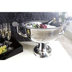 Moderne champagne koeler 40 cm zilver - 36380