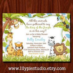 Printable jungle baby shower invitation free thank you card safari baby shower invitations printable jungle themed baby shower invitation printables filmwisefo