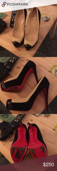 11 1/2 Christian Louboutin pumps Slightly used shoes, in great shape Christian Louboutin Shoes Heels