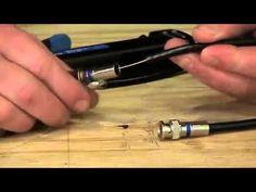 BNC Compression RG 6 Connector Termination - YouTube