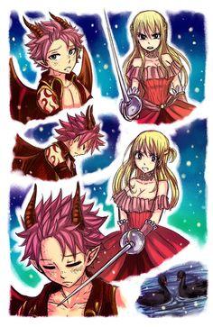 Image - Princesse Lucy et Prince dragon Natsu 3 Natsu Fairy Tail, Fairy Tail Lucy, Fairy Tail Amour, Art Fairy Tail, Fairy Tail Comics, Fairy Tale Anime, Fairy Tail Guild, Fairy Tail Ships, Fairy Tales