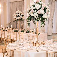 Floral Wedding Centerpieces Planning and Tips - Love It All Tall Wedding Centerpieces, Wedding Flower Arrangements, Floral Centerpieces, Ceremony Decorations, Centerpiece Ideas, Centrepieces, Floral Arrangements, Wedding Reception Planning, Reception Design