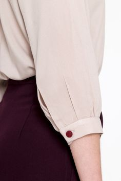 Mao shirt sleeve details Vintage Shirts, Shirt Sleeves, Trending Outfits, Etsy, Collection, Ideas, Tops, Women, Fashion