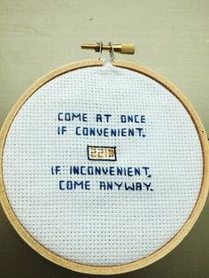 Sherlock is one of the best shows ever created. Celebrate Sherlock Holmes' directness/politeness with this cross stitched piece!
