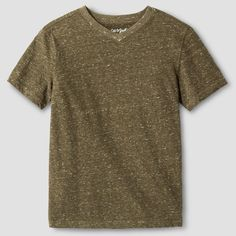 Boys' Heathered V-Neck T-Shirt - Cat & Jack, Boy's, Size: