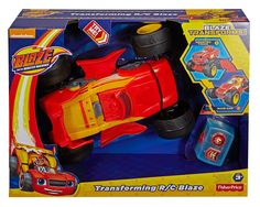 Amazon.com: Fisher-Price Nickelodeon Blaze and the Monster Machines Transforming R/C Blaze: Toys & Games
