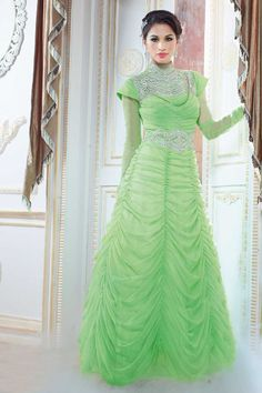 Parrot green, georgette anarkali gown with price £79.00 .Andaaz fashion presents new arrival.Embellished with embroidered, resham, zari, stone and hand.It is perfect for festival wear, party wear and wedding wear.Andaaz Fashion is the most popular designer wear online ethnic shop brands.  http://www.andaazfashion.co.uk/parrot-green-georgette-anarkali-gown-dmv13466.html