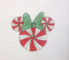 $11.95     Christmas Red & Green Peppermint Candy Mouse Head by MarsyesShoppe