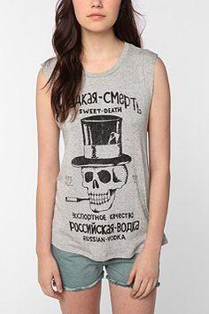 Daydreamer LA Sweet Death Cutoff Sweatshirt