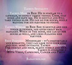Taurus woman sexuality traits