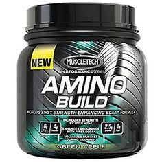 6bac4420d MuscleTech Performance Series Amino Build Green Apple Powder Protein Drink  1 lb  MuscleTechSupplements Software