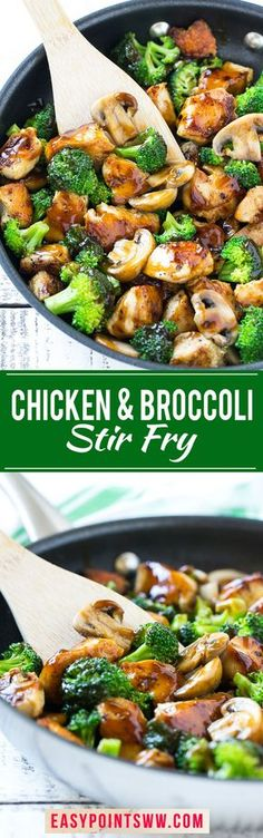 Weight Watchers Chicken and Broccoli Stir Fry ♥