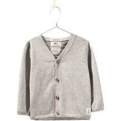 Zara Oxford Cardigan With Elbow Patches (64 BRL) ❤ liked on Polyvore featuring baby, baby boy, grey marl and kids