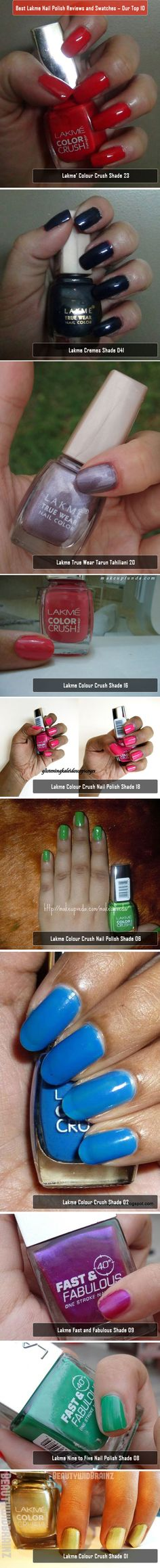 Top 10 Best Lakme Nail Polish Reviews and Swatches