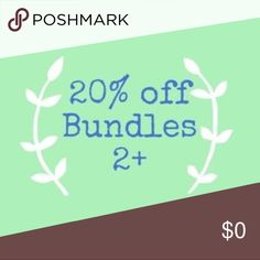 LIMITED TIME ONLY! 20% 2+ Bundle and save! Other