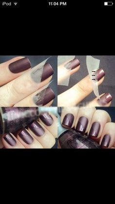 Love the matte accents...maybe a matte french tip or half moon mani!