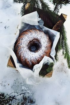 Bundt cake with orange, coffee and dark chocolate.