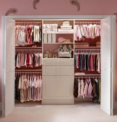 Ultimate Nursery Closet for Baby Girl! Lots of organizing options.