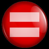 PINK RED EQUALS SIGN GAY MARRIAGE PRIDE LGBT BUTTON EQUALITY FACEBOOK RIGHTS MONTHLY DONATION GOES TO HRC   YOU WANT THESE OR ANY OTHER CUSTOM BUTTONS OR MAGNETS--GET AHOLD OF ME VIA HOTMAIL at UNFINISHEDPORCELAIN